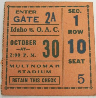 1926 NCAAF Idaho at Oregon St