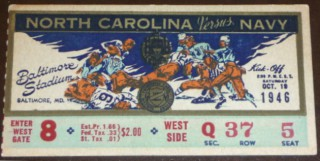 1946 NCAAF North Carolina at Navy
