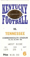 1995 NCAAF Tennessee at Kentucky