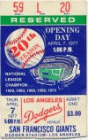 1977 Giants at Dodgers