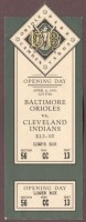 1992 Indians at Orioles Opening Day ticket stub
