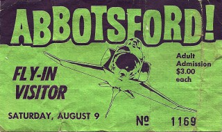Abbotsford Air Show - 1980 stub