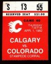 1982 Rockies at Flames