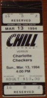1994 ECHL Checkers at Chill