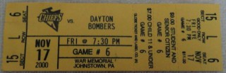 2000 ECHL Dayton Bombers at Johnstown Chiefs