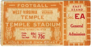 1932 NCAAF West Virginia at Temple