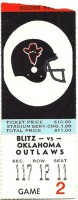 1984 USFL Outlaws at Blitz