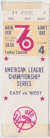 1976 ALCS Game 4 ticket stub Royals vs Yankees