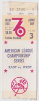 1976 ALCS Game 3 ticket stub Royals vs Yankees
