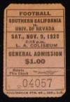 1929 NCAAF University of Nevada at USC