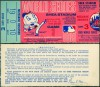 1969 World Series Game 3 ticket stub Orioles at Mets