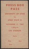 1962 NCAAF Utah State at Utah