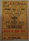1945 Brooklyn Bond Bowl Aces vs Skymasters