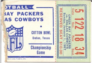 NFC Championship Game Ticket Stubs