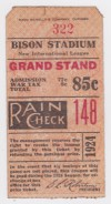 1924 Buffalo Bisons Offerman Stadium ticket stub