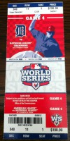 2012 World Series Game 4 ticket Giants at Tigers