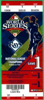 2008 World Series Game 1 ticket Phillies at Rays