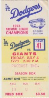 1975 GIANTS at DODGERS