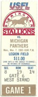 1983 USFL Panthers at Birmingham Stallions