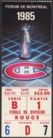 1985 NHL Playoffs Nordiques at Canadiens