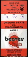 1982 NCAAF Washington at Oregon State