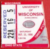 1966 NCAAF Wisconsin at Ohio State