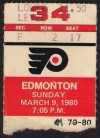 1980 Oilers at Flyers