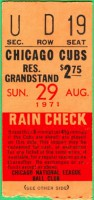 1971 Braves at Cubs Aaron HR 631
