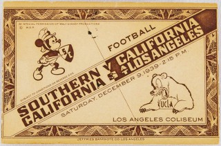 1939 NCAAF USC vs UCLA Disney