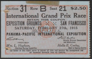 1915 PPIE Auto Racing San Francisco