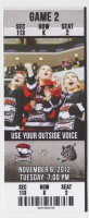 2012  AHL Wolves at Checkers ticket stub