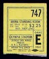 1961 Stanley Cup Game 6 ticket stub Blackhawks at Red Wings