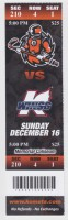 2012 ECHL Ft Wayne Komets ticket stub vs Kalamazoo