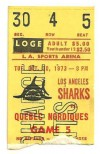 1973 WHA Nordiques at Sharks