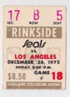 1975 California Golden Seals ticket stub vs Kings