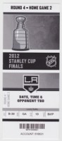 2012 Stanley Cup Final ticket stub Los Angeles vs Vancouver