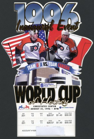 1996 WORLD CUP HOCKEY USA vs CANADA  stub