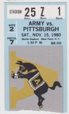 1980 NCAAF Pittsburgh at Army ticket stub
