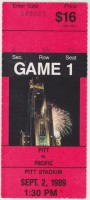 1989 NCAAF Pacific at Pittsburgh