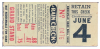 1941 Knoxville Smokies vs Chattanooga Lookouts ticket stub
