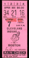 1979 Red Sox at Indians Opening Day