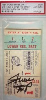 1954 World Series Game 1 ticket stub Indians at Giants