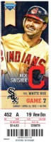 2013 MLB White Sox at Indians ticket stub