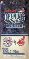 2013 MLB Indians at Blue Jays ticket stub