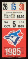 1985 New York Yankees at Toronto Blue Jays