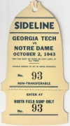 1943 NCAAF Georgia Tech at Notre Dame
