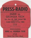 1989 NCAAF Georgia Tech at Duke Press Pass