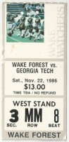 1986 NCAAF Georgia Tech at Wake Forest