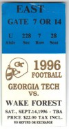 1996 NCAAF Wake Forest at Georgia Tech