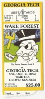 2003 NCAAF Georgia Tech at Wake Forest
